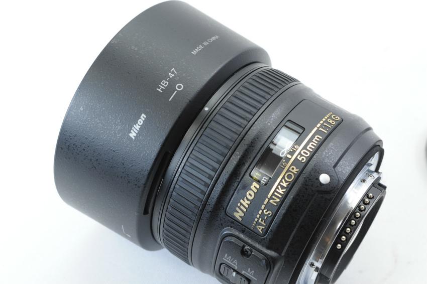 【ecoま】ニコン NIKON AF-S 50mm F1.8 G フード付 単焦点 オートフォーカスレンズ_画像6