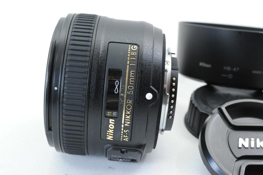 【ecoま】ニコン NIKON AF-S 50mm F1.8 G フード付 単焦点 オートフォーカスレンズ_画像4