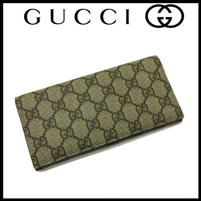 12539009c07a #4474 送料無料 美品 グッチ GUCCI purse 財布 長財布 二つ折り メンズ レディース