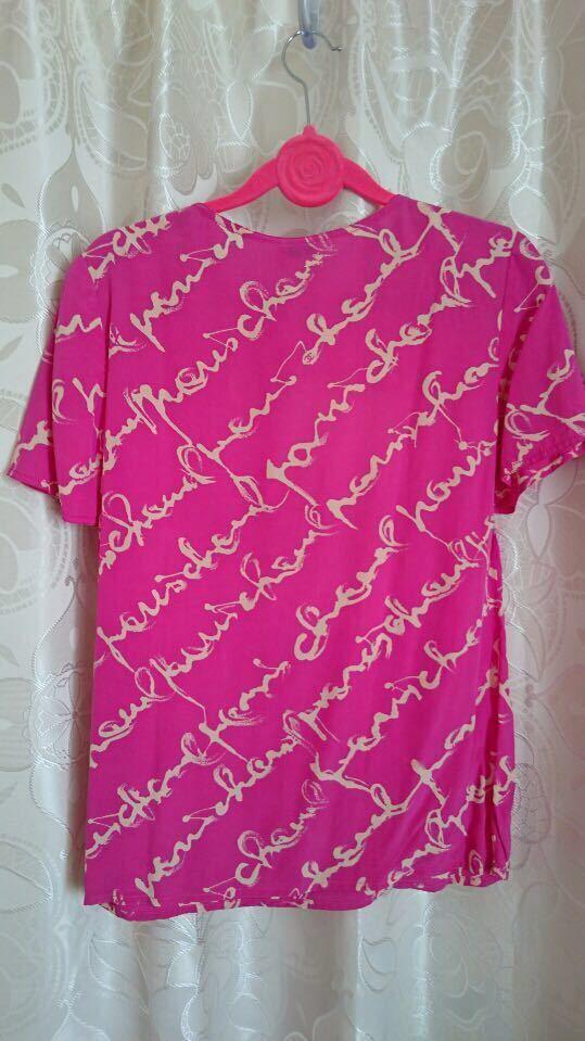 シャネル CHANEL 金ボタン付き ロゴ マーク ブラウス カメリア ピンク ホワイト 白 シャツ ワンピース_画像5