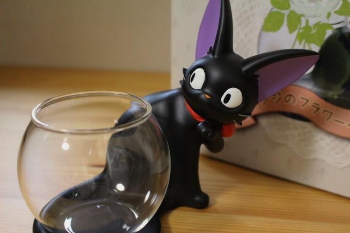 レア 魔女の宅急便 ジジのフラワーベース 花瓶 黒猫 スタジオジブリ_画像1