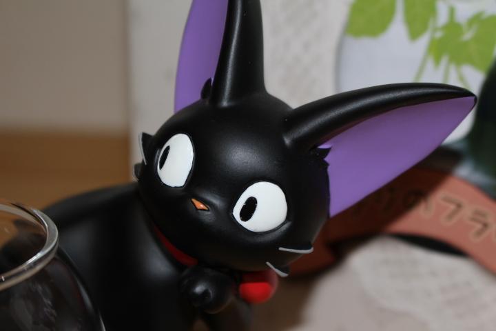 レア 魔女の宅急便 ジジのフラワーベース 花瓶 黒猫 スタジオジブリ_画像3