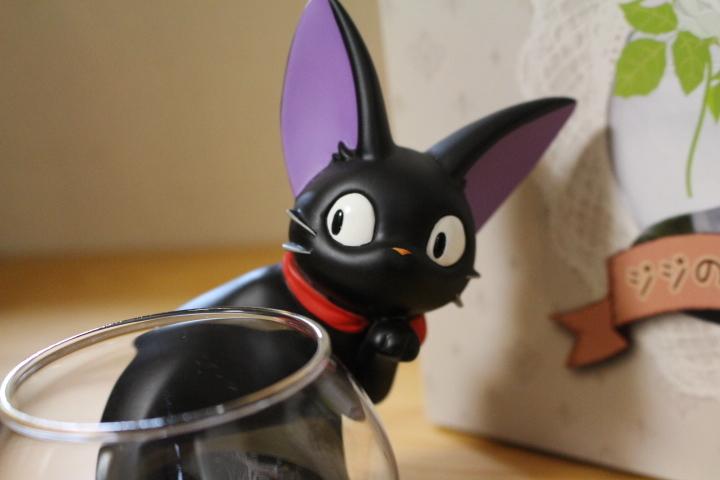レア 魔女の宅急便 ジジのフラワーベース 花瓶 黒猫 スタジオジブリ_画像5