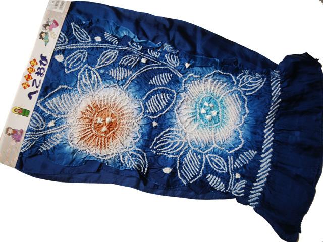 H325 京都 高級 未使用 正絹 絹100% 絞り 兵児帯子供 浴衣 帯 男の子 可愛い_画像2