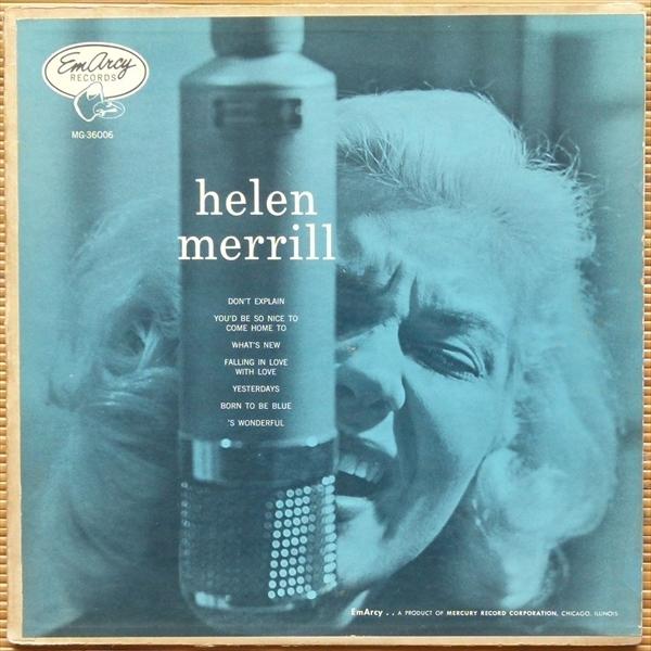 【オリジナル】Helen Merrill with Clifford Brown★深溝/大ドラ銀環ラベル/両面YMG★