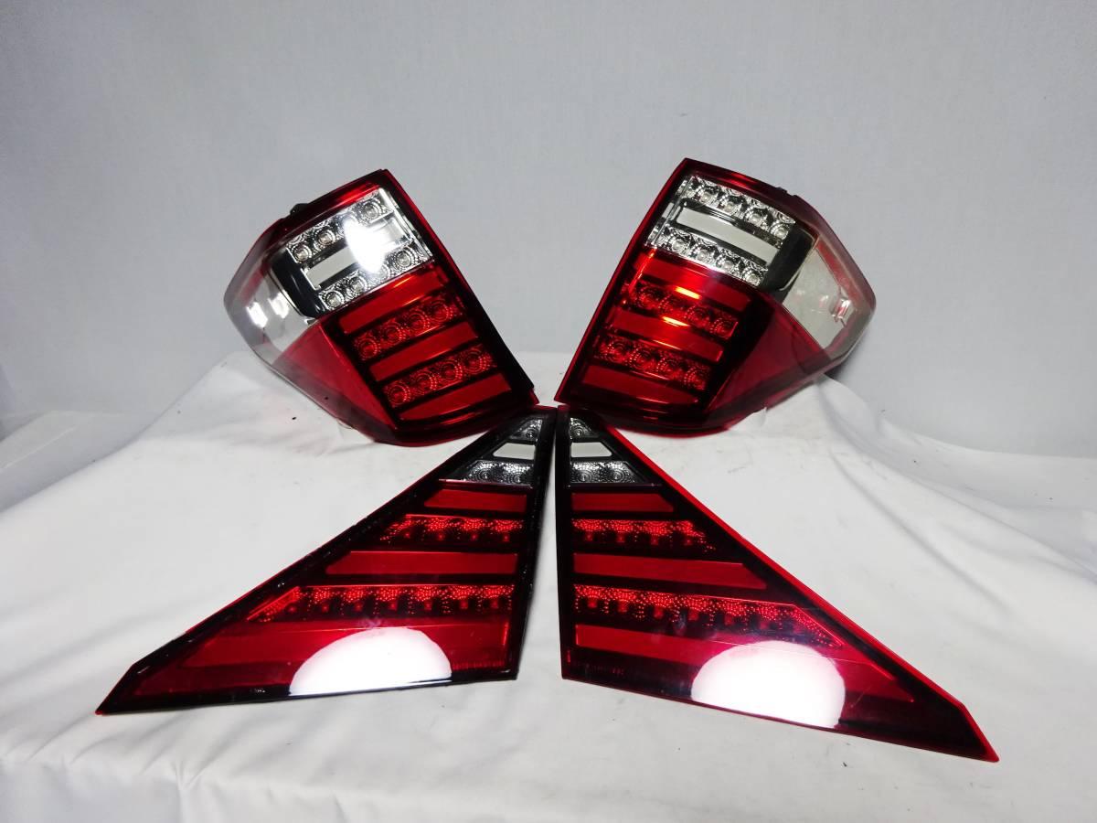 点灯確認済 アルファード ヴェルファイア 20 レッドクリアレンズ ファイバー アクリル フルLEDテールレンズ テールランプ 左右