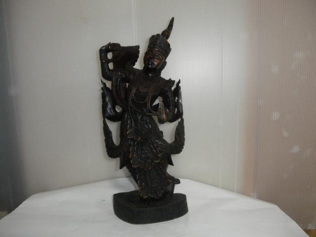 @@ 外国 美術工芸 美術品 黒檀 仏像 彫刻 東洋彫刻 オブジェ 木工 アンティーク レトロ_画像1