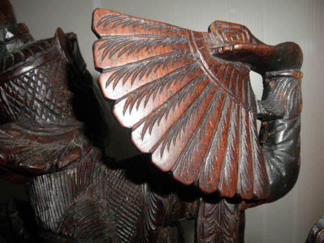 @@ 外国 美術工芸 美術品 黒檀 仏像 彫刻 東洋彫刻 オブジェ 木工 アンティーク レトロ_画像4