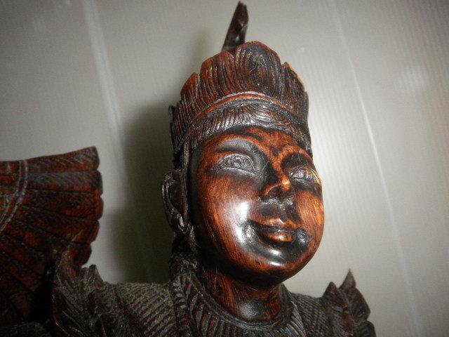 @@ 外国 美術工芸 美術品 黒檀 仏像 彫刻 東洋彫刻 オブジェ 木工 アンティーク レトロ_画像6
