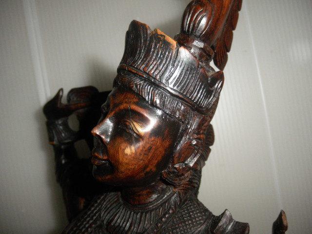@@ 外国 美術工芸 美術品 黒檀 仏像 彫刻 東洋彫刻 オブジェ 木工 アンティーク レトロ_画像10
