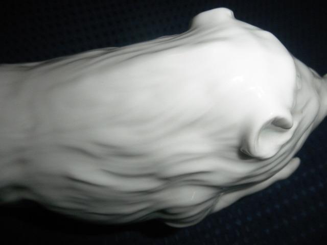 @@ 昭和レトロ 有田焼 イノシシ 白磁 インテリア 雑貨 作家物 イノシシの飾り物 細工物 和風インテリア _画像9