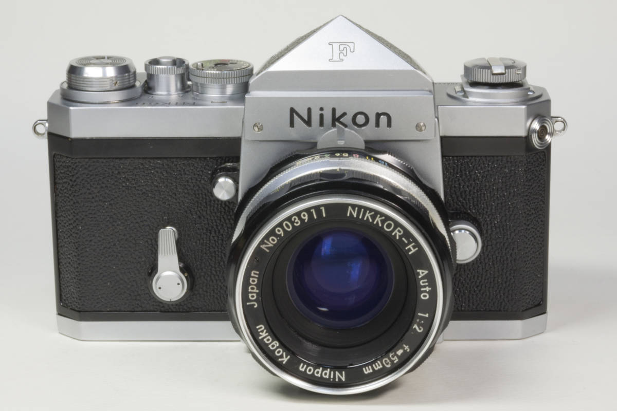 ニコンF アイレベル シルバー  Nikkor-H 50mm F1:2.0 動作確認品_画像2