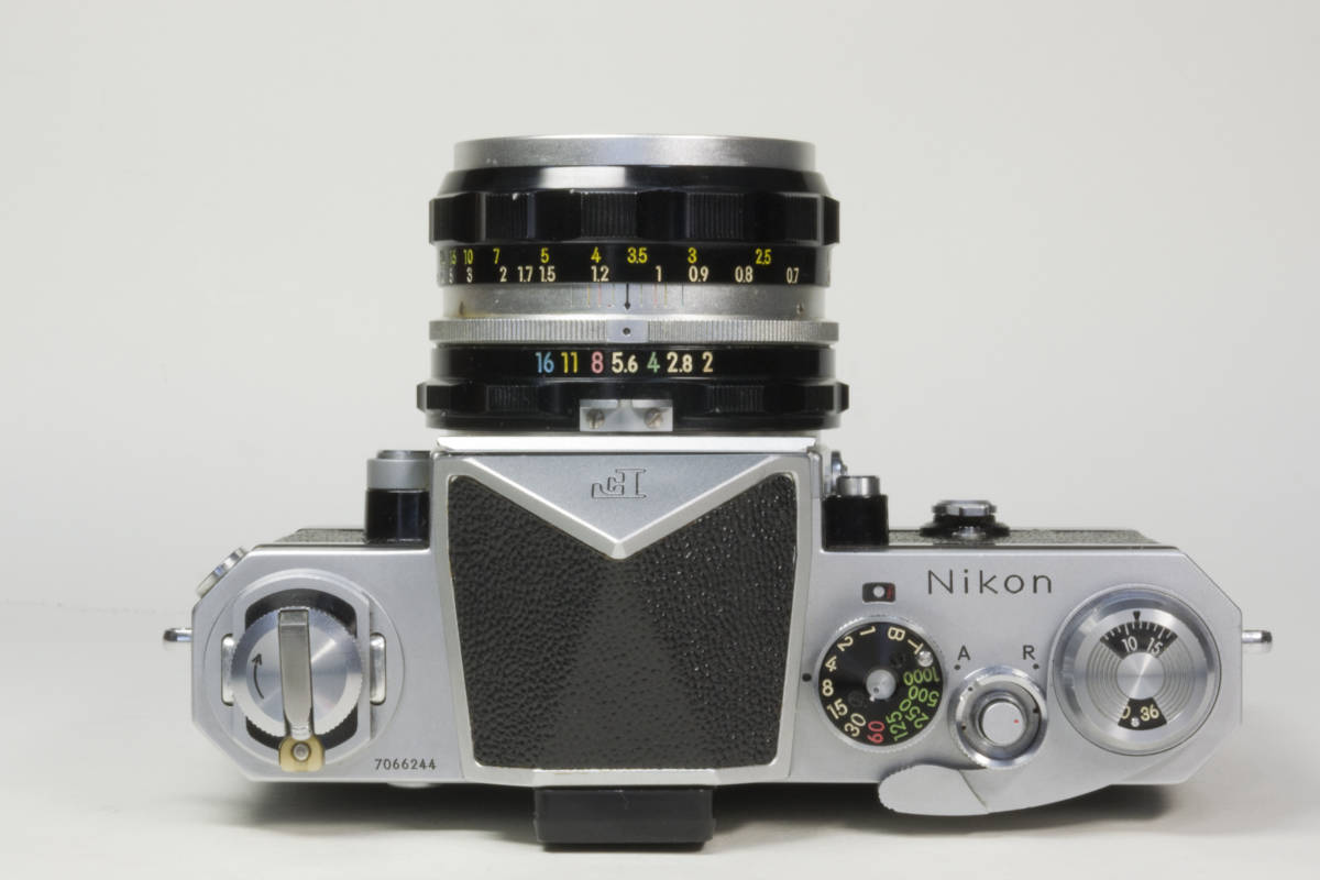 ニコンF アイレベル シルバー  Nikkor-H 50mm F1:2.0 動作確認品_画像3