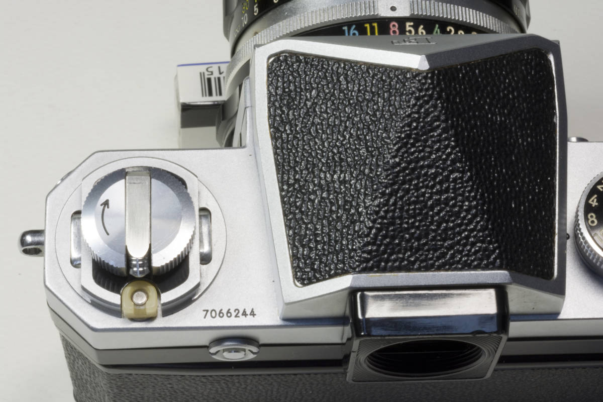ニコンF アイレベル シルバー  Nikkor-H 50mm F1:2.0 動作確認品_画像8