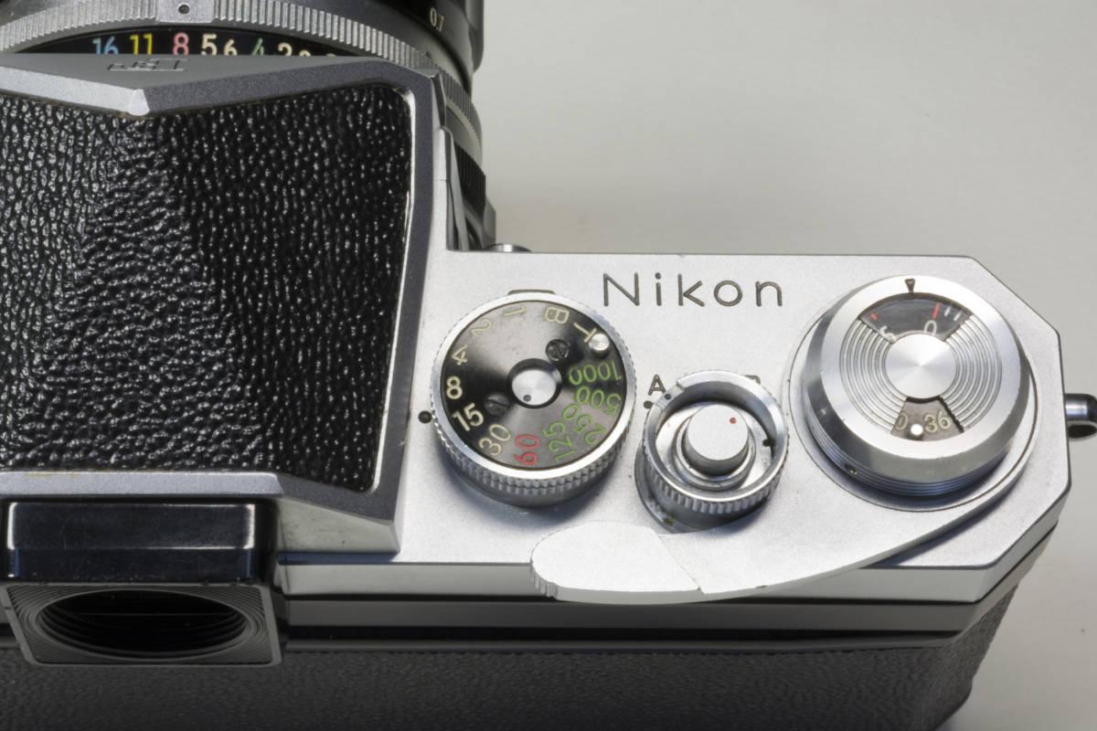 ニコンF アイレベル シルバー  Nikkor-H 50mm F1:2.0 動作確認品_画像9