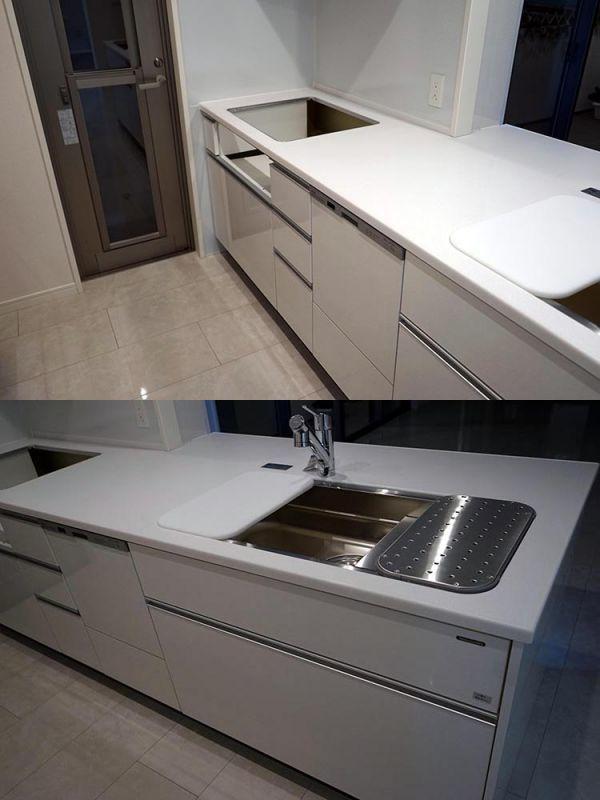 AGM16AB その他 展示品 タカラスタンダード システムキッチン カップボード セット 水栓 レンジF 食洗器付き コンロ無し W2590 H850 D950_画像3