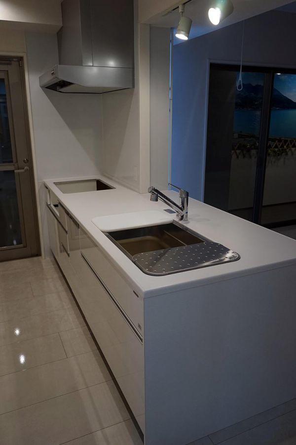 AGM16AB その他 展示品 タカラスタンダード システムキッチン カップボード セット 水栓 レンジF 食洗器付き コンロ無し W2590 H850 D950_画像2