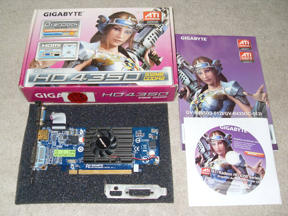 GIGABYTE GV - R 4350 C - 512 I 512 MB GDDR 2 (Used)