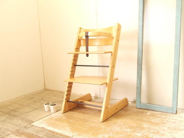 STOKKE TRIPP TRAPP ストッケ トリップトラップ ベビーチェア 木製ガード レザーベルト付 子供椅子 ノルウェー 北欧 ナチュラル 送料無料_画像1