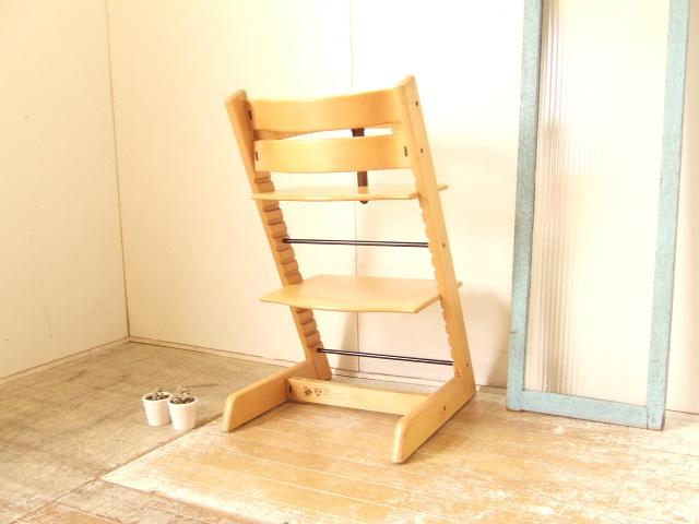 STOKKE TRIPP TRAPP ストッケ トリップトラップ ベビーチェア 木製ガード レザーベルト付 子供椅子 ノルウェー 北欧 ナチュラル 送料無料_画像2