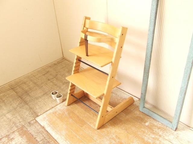 STOKKE TRIPP TRAPP ストッケ トリップトラップ ベビーチェア 木製ガード レザーベルト付 子供椅子 ノルウェー 北欧 ナチュラル 送料無料_画像3