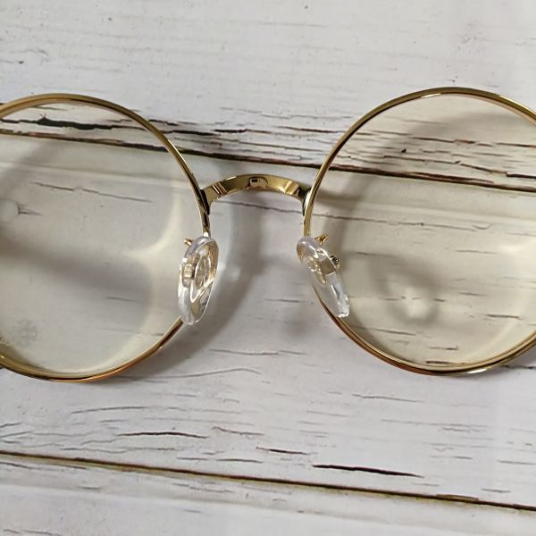 ad824213e1 Chrome Hearts glasses frame 55. gold Vintage round glasses   Real ...