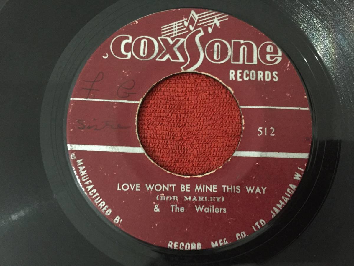BOB MARLEY&THE WAILERS / I'M GONNA PUT IT ON & LOVE WON'T BE MINE THIS WAY COXSONE SKA HIT 45_画像2