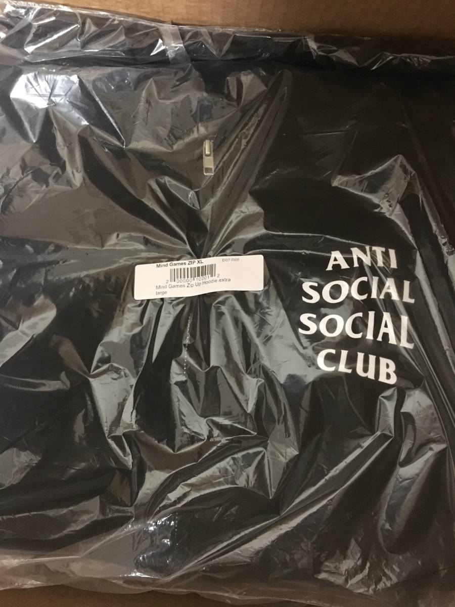 【新作即完売】 Anti Social Social Club 17ss Mind Games Zip Up Hoodie XL_画像3