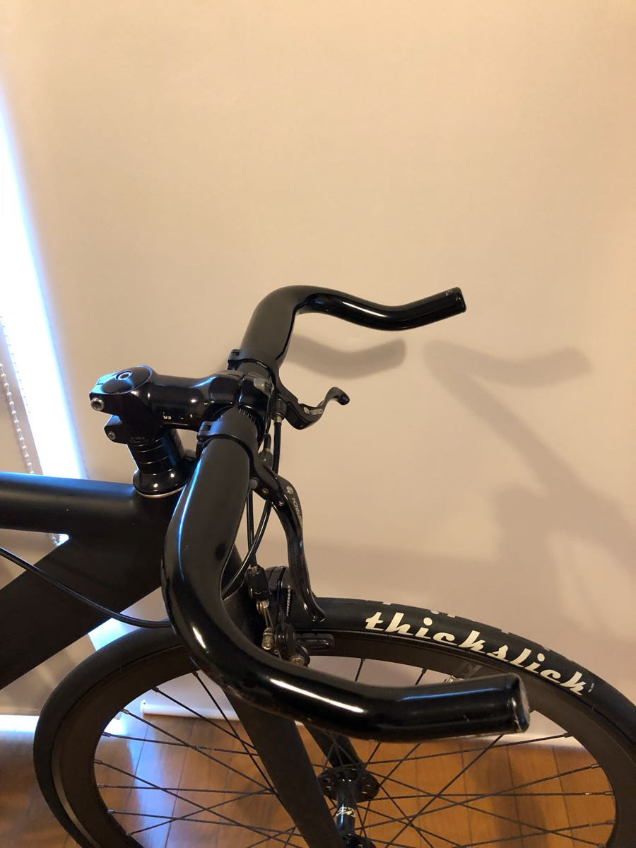 相談可 LEADER BIKES 735TR BLACK ブラック M サイズ BROTURES 原宿 購入 ピスト リーダーバイク ブローチャーズ ABUSチェーン付_画像4