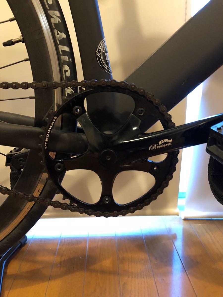 相談可 LEADER BIKES 735TR BLACK ブラック M サイズ BROTURES 原宿 購入 ピスト リーダーバイク ブローチャーズ ABUSチェーン付_画像8