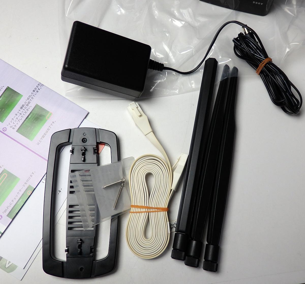 中古動作品 BUFFALO WZR-450HP-C AirStation HighPower 無線LAN/ルーター_画像4