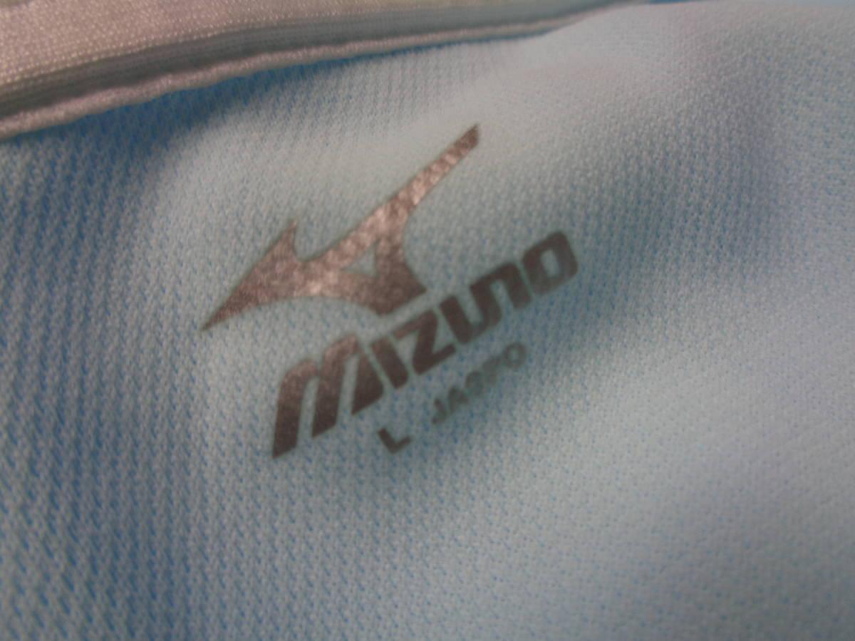 「ミズノ SHIGA CANOE TEAM MIZUNO 滋賀 カヌー チーム ポロシャツ sizeL 国体 代表 青」の画像3