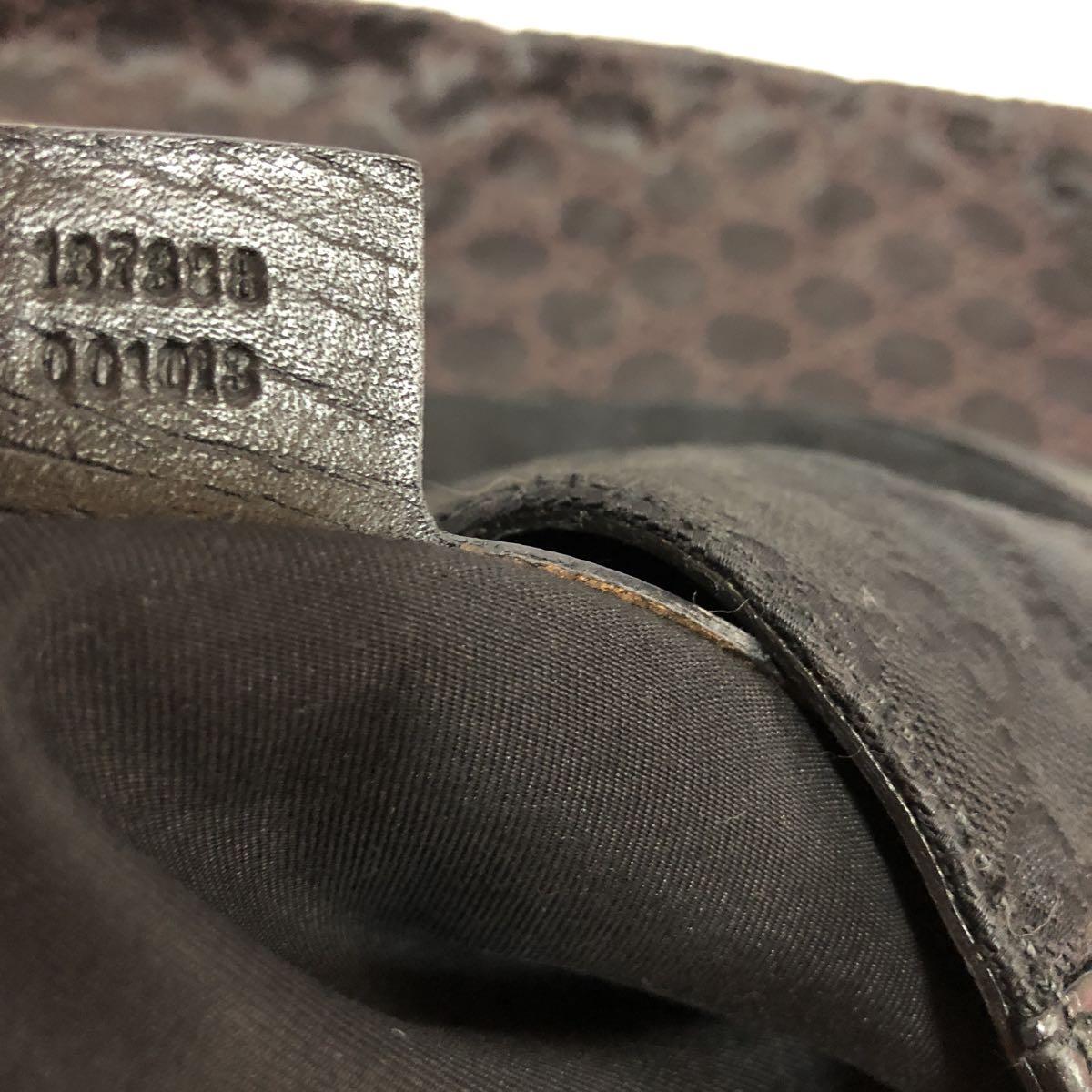 良品 GUCCI グッチ ハンドバック バック バッグ カバン ワンショル GG 金具 保存袋あり 1円~_画像8