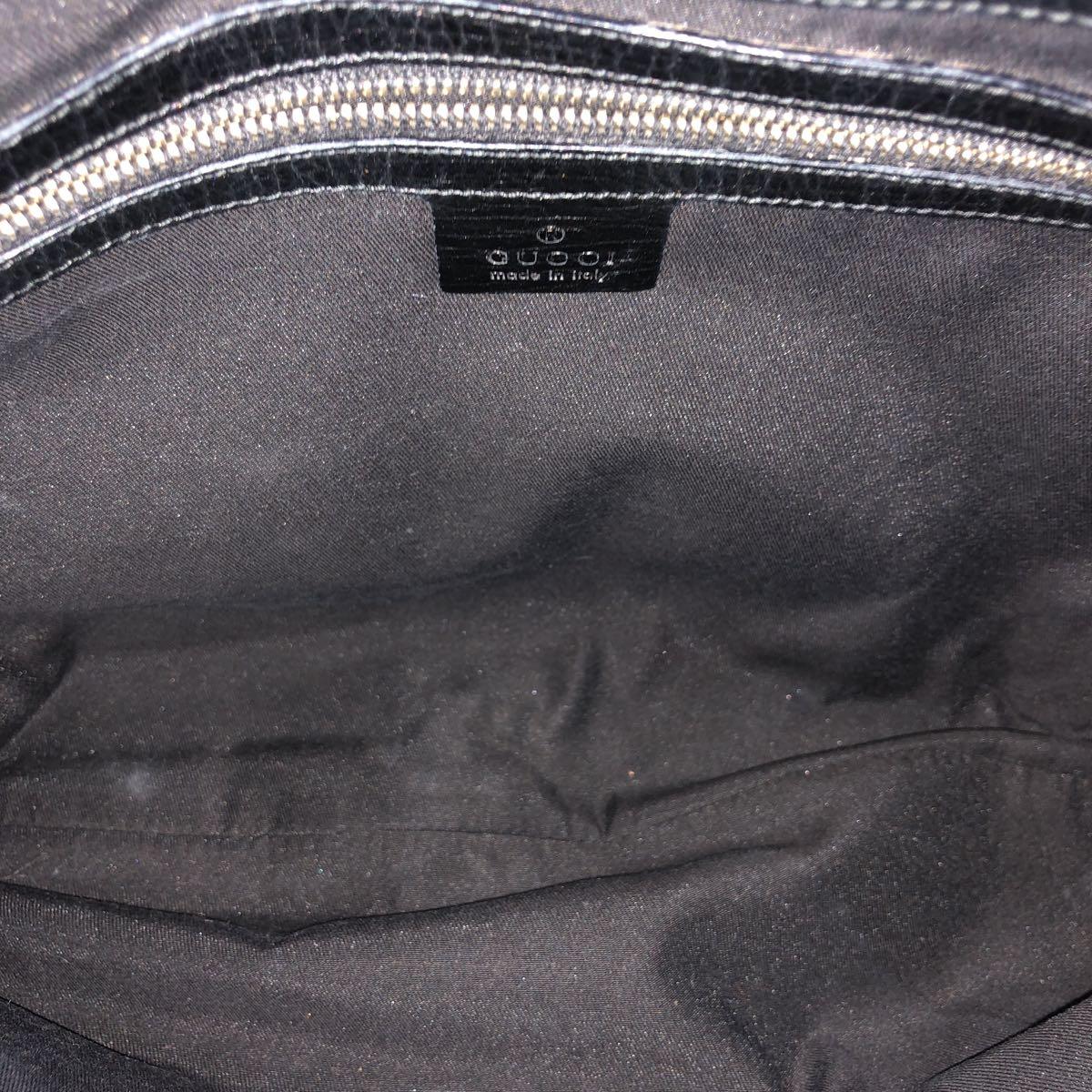 良品 GUCCI グッチ ハンドバック バック バッグ カバン ワンショル GG 金具 保存袋あり 1円~_画像7