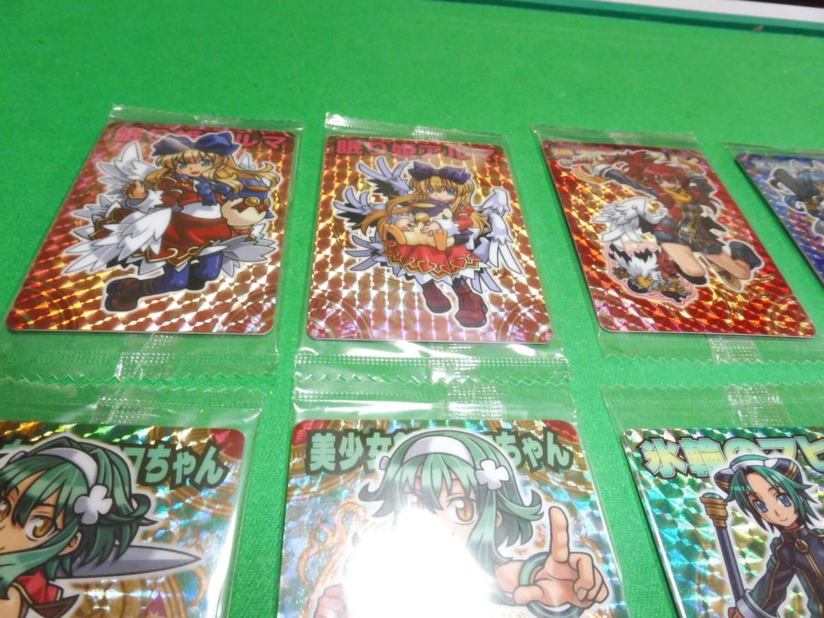 神羅万象 トップキャラクター 眠り姫アルマ、美少女剣士アコちゃん、ZXマヒロ、カリンなど女性キャラカード15枚 未開封_画像2