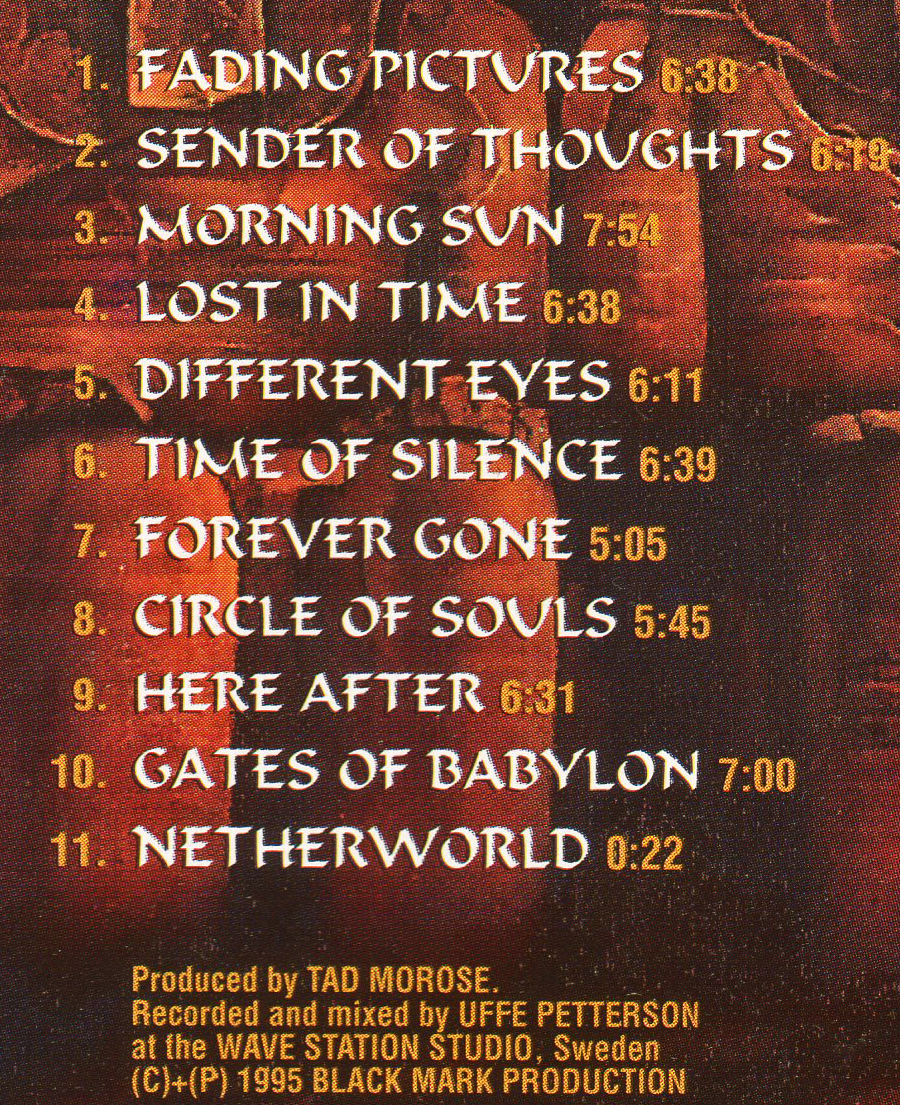 ♪ProgPowerMetal≪輸入盤CD≫TAD MOROSE(タッド・モローズ)/SENDER OF THOUGHTS♪_収録曲目