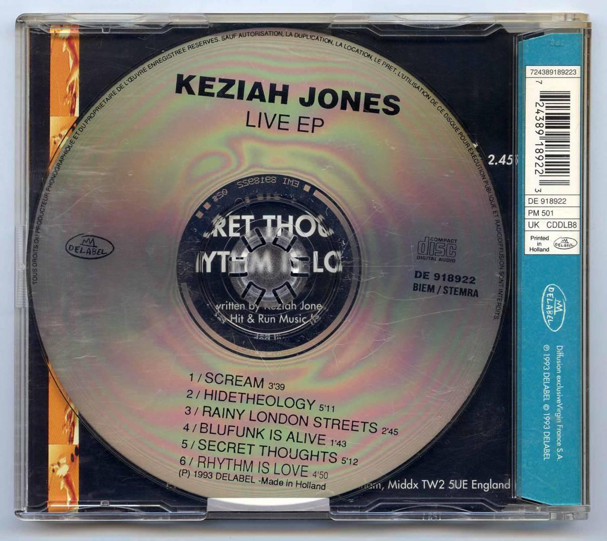 Keziah Jones(キザイア・ジョーンズ)CD ミニアルバム「Live EP」EU盤(オランダ製)DE 918922_画像2