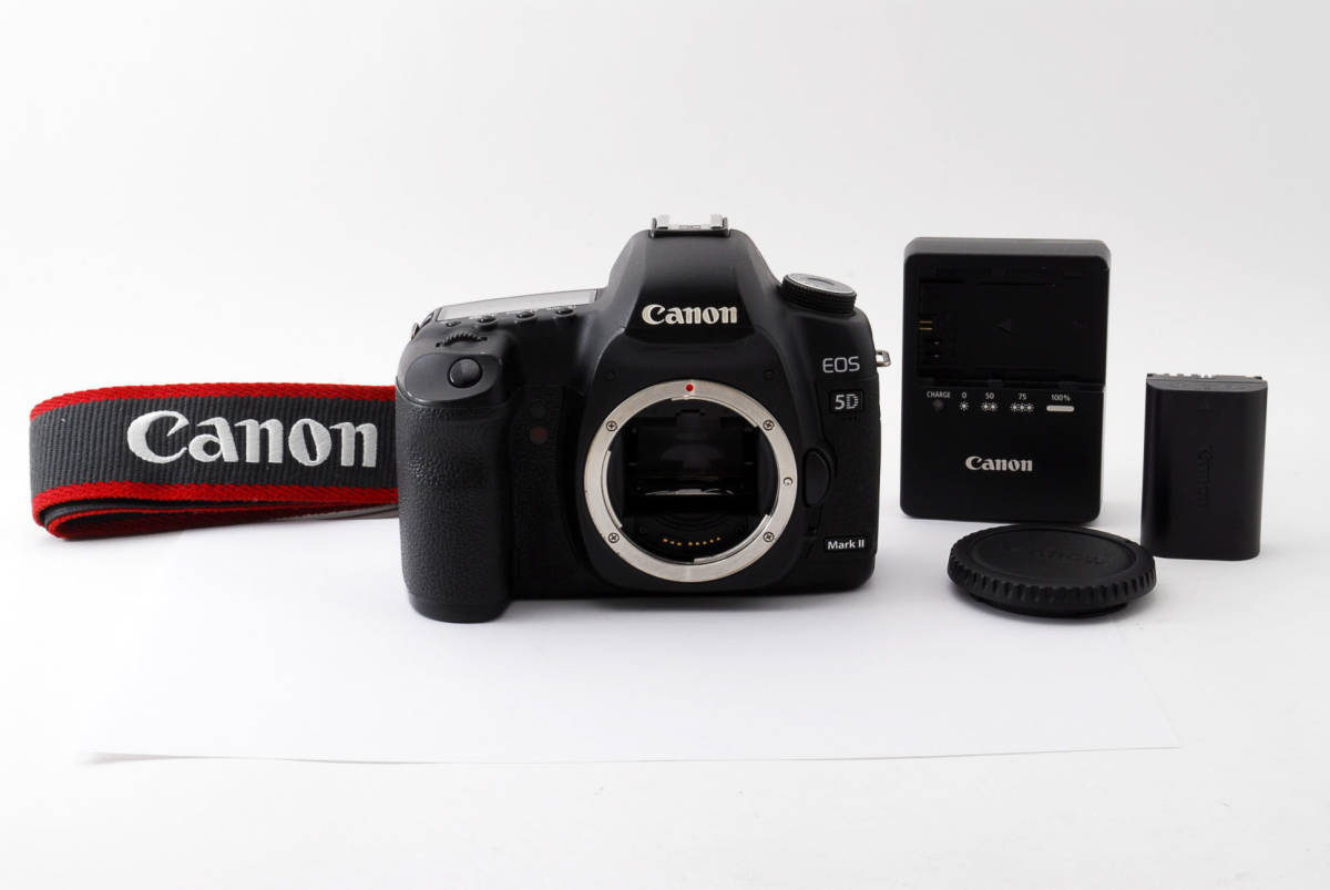 ◆完動品◆Canon キャノン EOS 5D Mark Ⅱ ボディ 付属品充実♪ 通常使用における不具合は半年間保証します! 16j18r-229_画像1