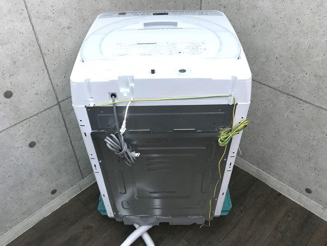 【1円~】17年製 洗濯機 シャープ ES-T709 7kg 美品 SHARP 風乾燥 ステンレス槽 C717-7_画像2