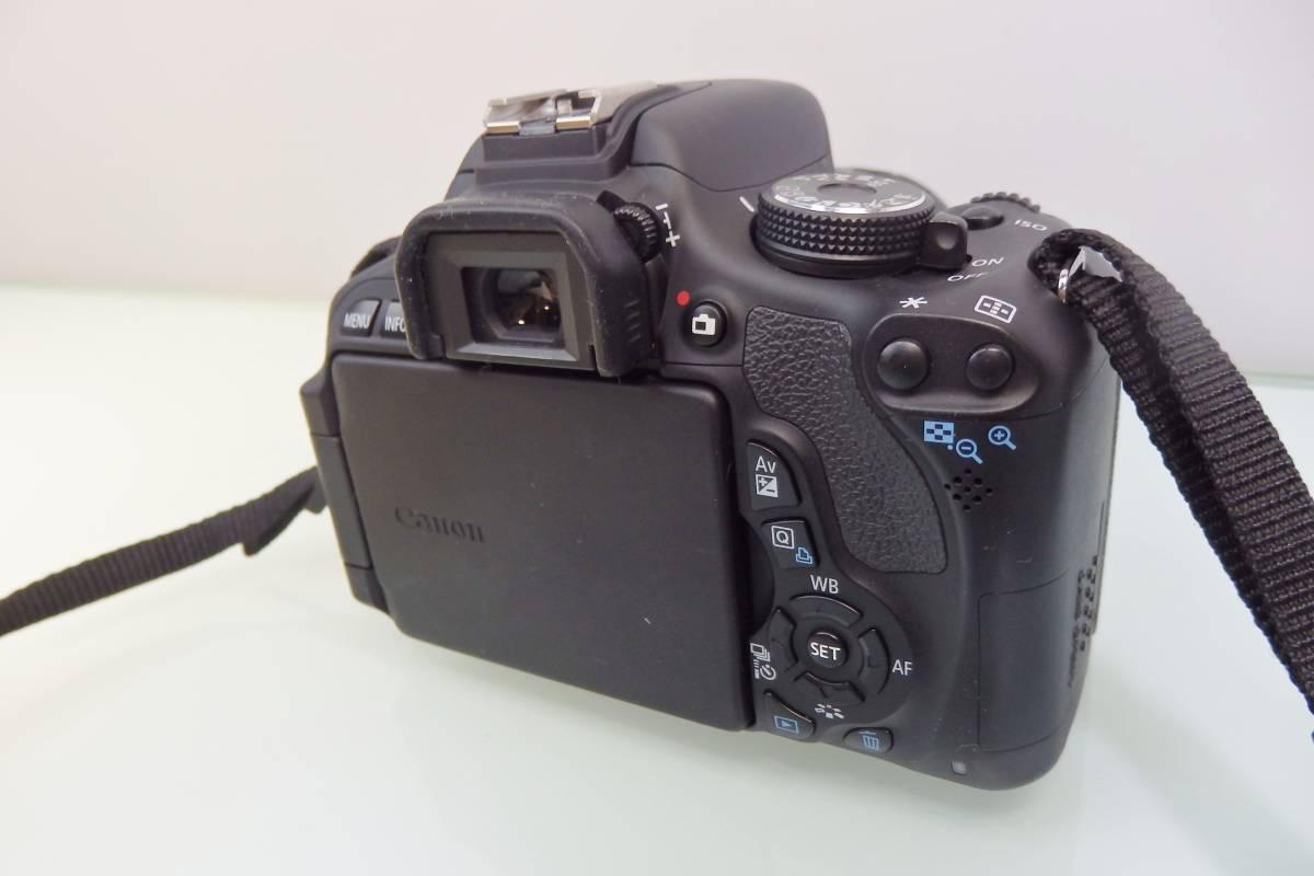 美品・使用数回♪ Canon EOS KISS X5 一眼レフ デジタルカメラ レンズ DS126311 デジカメ キャノン EF-S18-55mm F3.5-5.6 バッグ付 おまけ_画像4