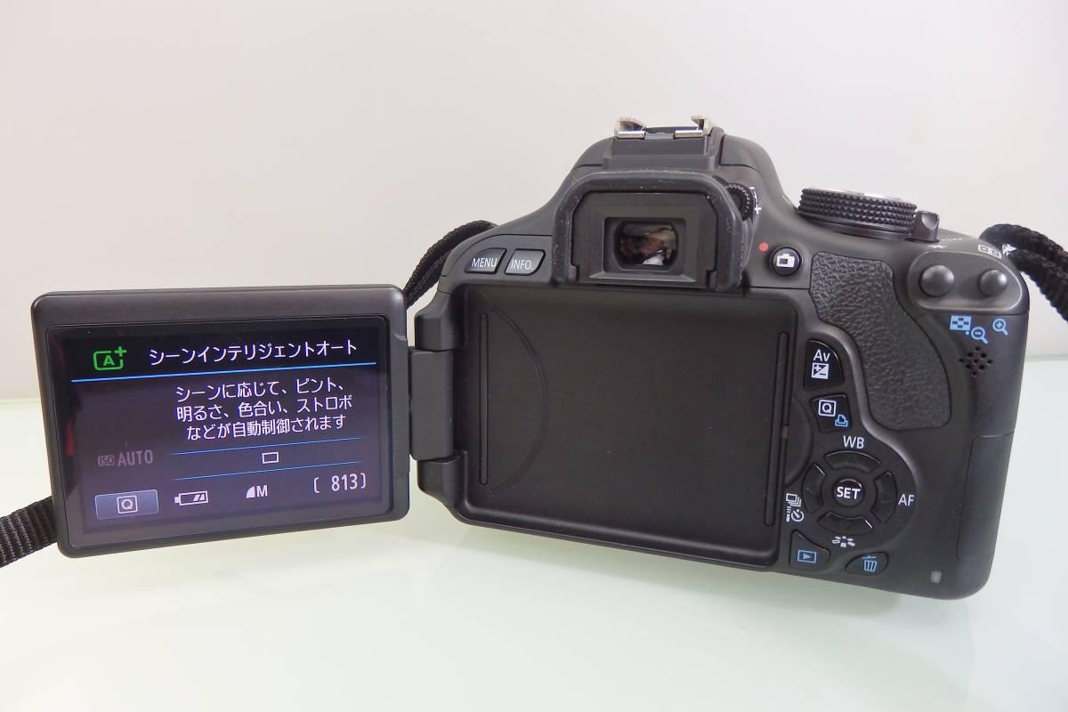 美品・使用数回♪ Canon EOS KISS X5 一眼レフ デジタルカメラ レンズ DS126311 デジカメ キャノン EF-S18-55mm F3.5-5.6 バッグ付 おまけ_画像3