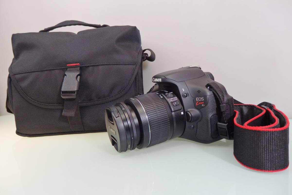 美品・使用数回♪ Canon EOS KISS X5 一眼レフ デジタルカメラ レンズ DS126311 デジカメ キャノン EF-S18-55mm F3.5-5.6 バッグ付 おまけ