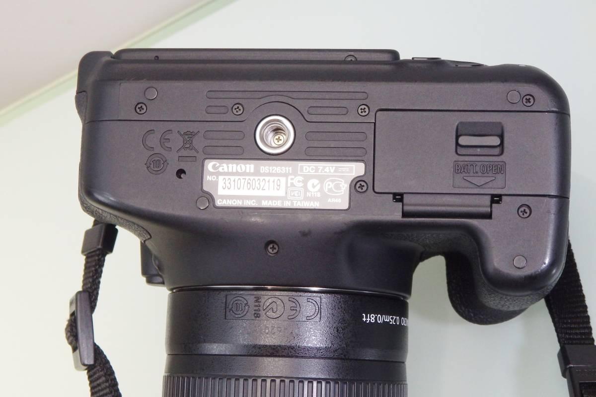 美品・使用数回♪ Canon EOS KISS X5 一眼レフ デジタルカメラ レンズ DS126311 デジカメ キャノン EF-S18-55mm F3.5-5.6 バッグ付 おまけ_画像8