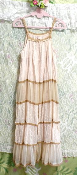 インド製綿コットン100%ピンクブラウンフワフワキャミソールマキシワンピース Indian cotton 100% pink brown fluffy camisole onepiece_画像6