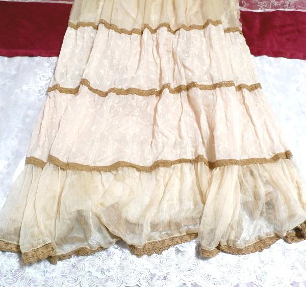 インド製綿コットン100%ピンクブラウンフワフワキャミソールマキシワンピース Indian cotton 100% pink brown fluffy camisole onepiece_画像4