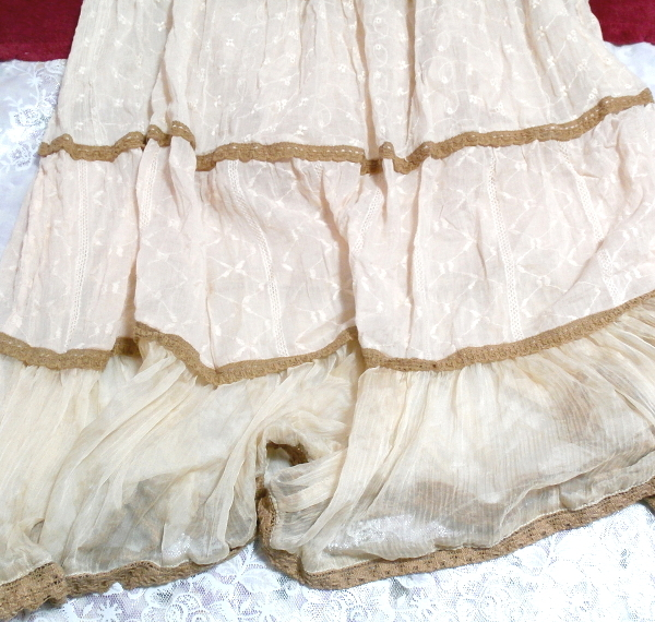 インド製綿コットン100%ピンクブラウンフワフワキャミソールマキシワンピース Indian cotton 100% pink brown fluffy camisole onepiece_画像3