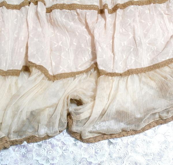 インド製綿コットン100%ピンクブラウンフワフワキャミソールマキシワンピース Indian cotton 100% pink brown fluffy camisole onepiece_画像5