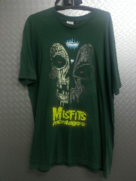 パンクスタイルMISFITSミスフィッツツーフェイススカルTシャツ