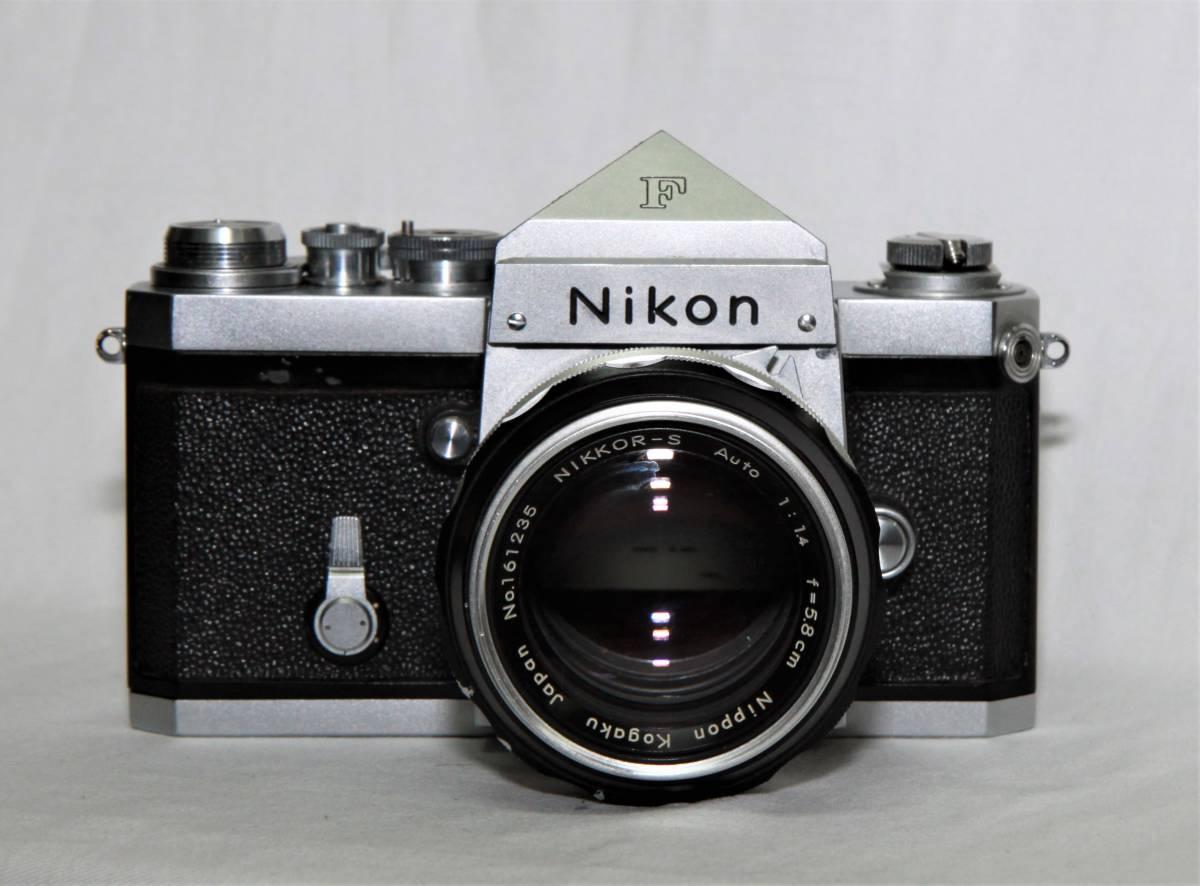 Nikon F アイレベル 643万台 NIKKOR-S Auto 1:1.4 f=5.8cm 露出計付き_画像2