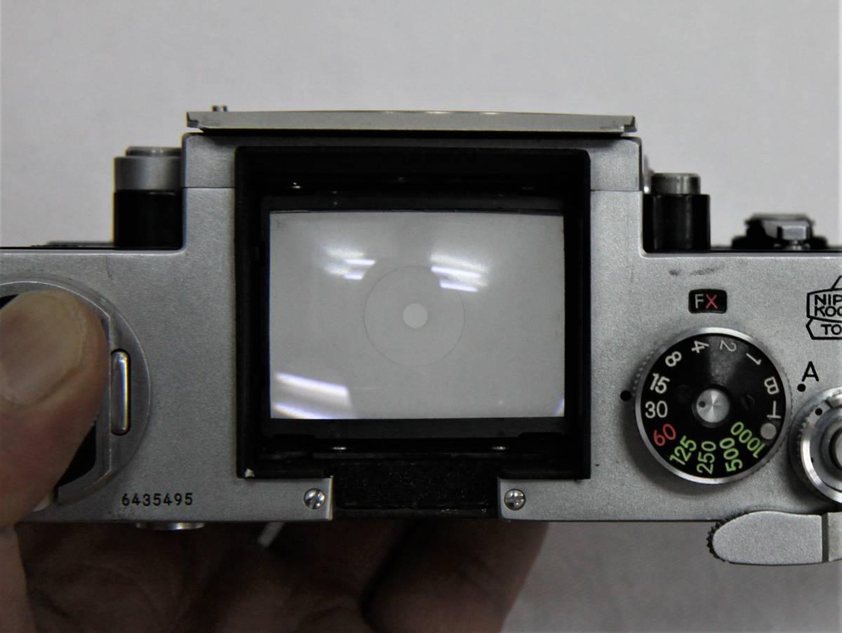 Nikon F アイレベル 643万台 NIKKOR-S Auto 1:1.4 f=5.8cm 露出計付き_画像9